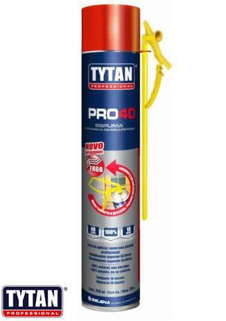 ESPUMA TYTAN IMPORTADA PRO 40 -750ML MANUAL - CREME - 720G